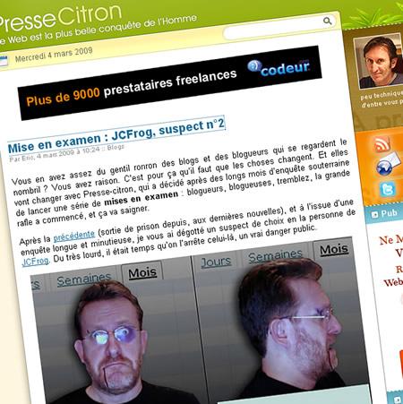 descente de police - JCFrog che Presse Citron