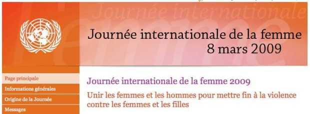 journee de la femme 2009