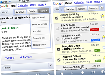 gmail mobile iphone android